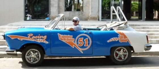 Altes Auto in Kuba 1950