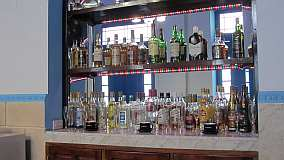 The bar is well supplied