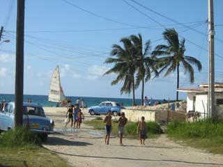 Hier der Strand