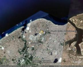 Casa Particular Manuel in Havana Cuba. Google Earth View