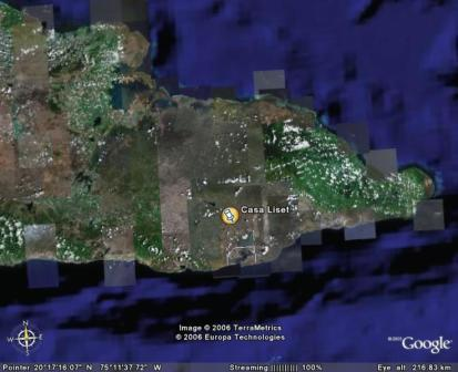 (Holiday Casa Liset in Guantanamo) Google Earth View