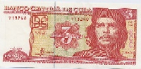 Three Peso Cubano (Moneda nacional)