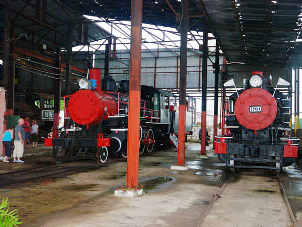 Trains in the old sugar factory